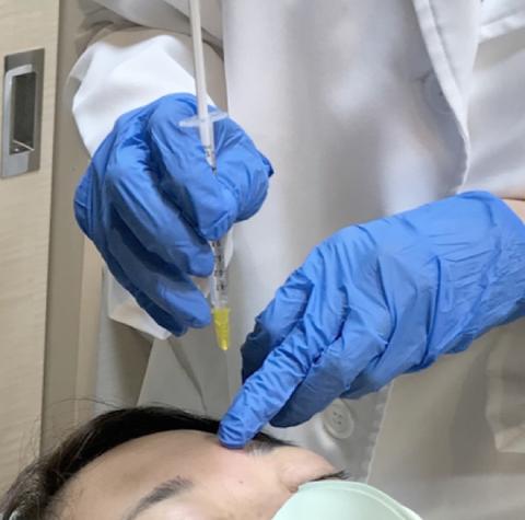 スタッフ体験レポ☆眉間へのボトックス注射