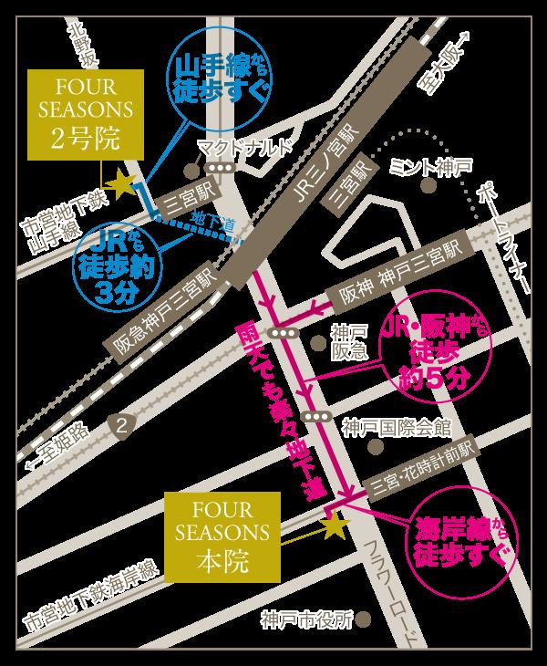 神戸本院・2号院の地図