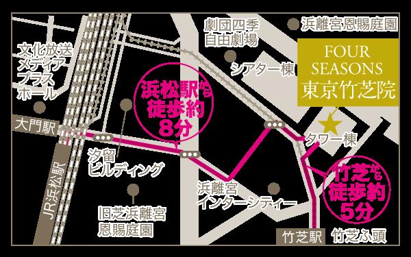 東京竹芝院の地図
